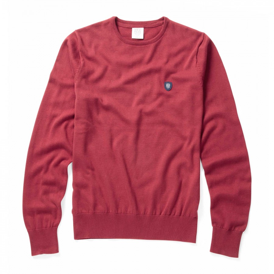 Muraco Rosewood Red Long Sleeved Pullover Knitwear