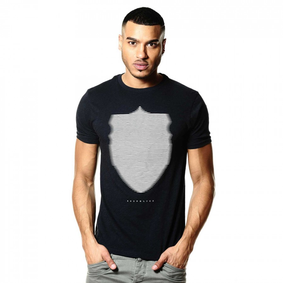 Wolf Navy Comfortable Graphic T Shirt