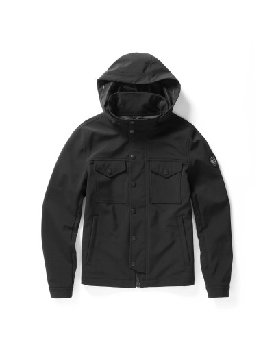 Arvin Men's Jet Black Hooded Jacket