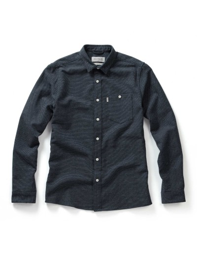 Astro Navy Long Sleeved Slim Fit Casual Shirt