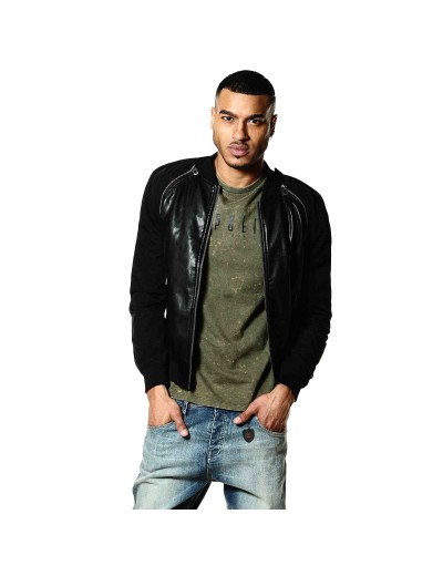 Corbet Black Casual Bomber Jacket