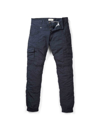 Ezra Navy Four Flat Pocket Cargo Pants