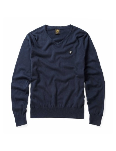 Maccus Eclipse Long Sleeved Pullover Navy Knitwear