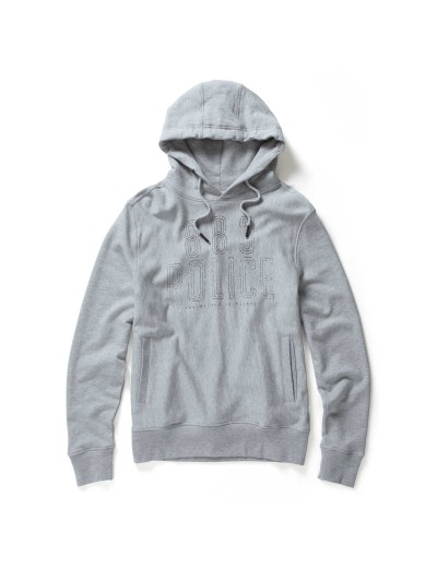 Malibu Long Sleeved Marl Grey Hooded Sweatshirt