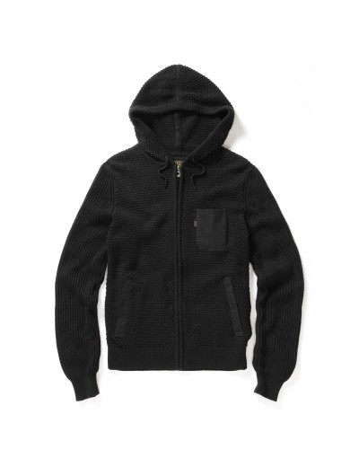 Mancos Jet Black Hooded Knitwear