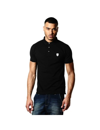 Mellor Contemporary Black Polo Shirt