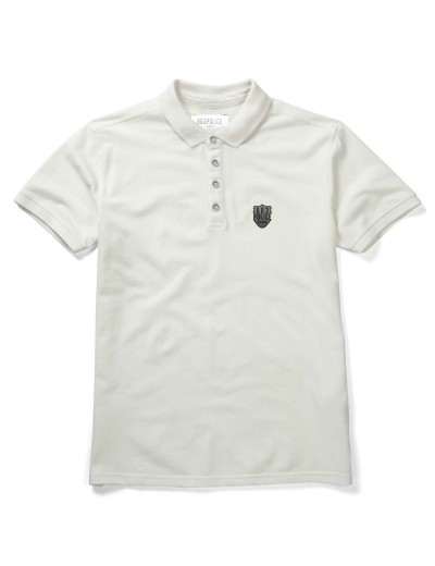 Mellor White Designer Polo Shirt - New Design