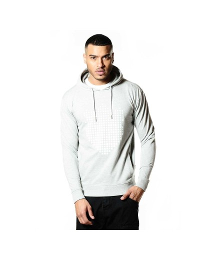 Seahawk Marl Grey Sylish Sweatshirt Hooded