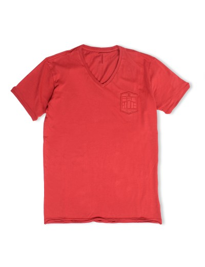 Showtek Bossa Red Graphic Soft Cotton T Shirt