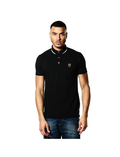 Sway Black Casual Polo Shirt