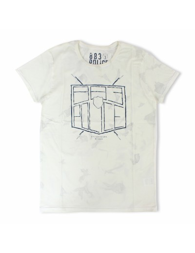 Antonio Off White Crew Neckline Graphic  T Shirt